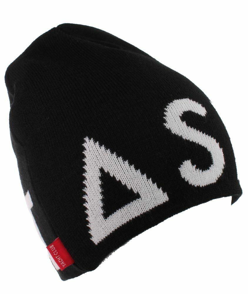 Asphalt Yacht Club Mens Black Blockbuster Jacquard Skate Beanie Winter Hat NWT
