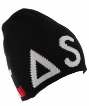 Asphalt Yacht Club Mens Black Blockbuster Jacquard Skate Beanie Winter Hat NWT