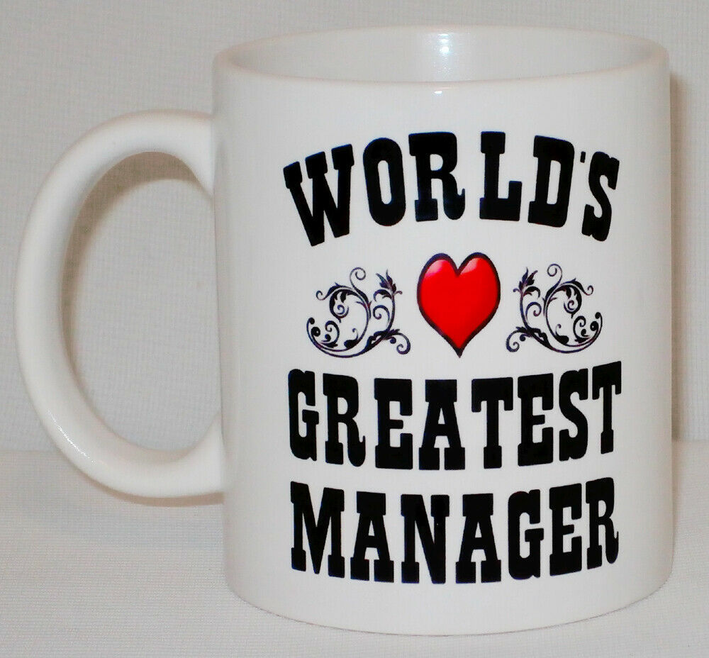 World's Greatest Manager Mug Can Personalise Great Office Work Line Section Gift image 2