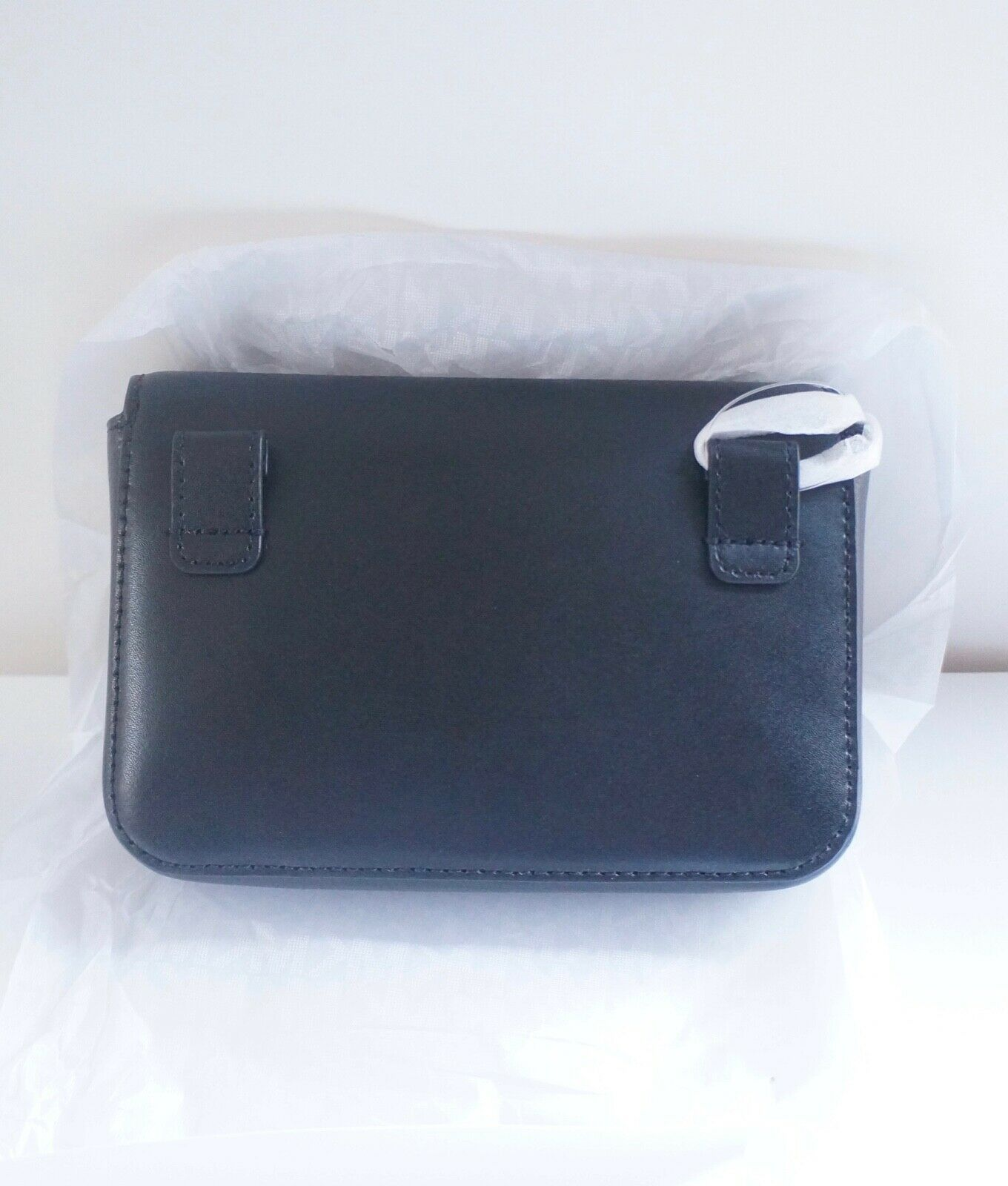 NWT Michael Kors Mott Small Leather Belt Bag/ Black image 3