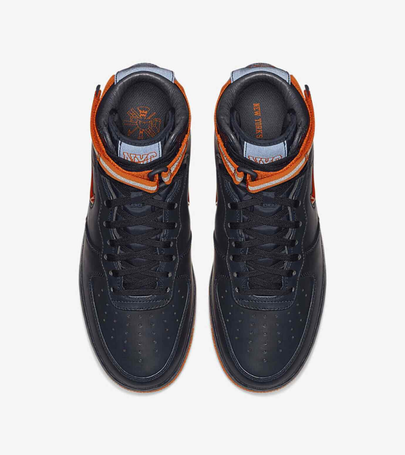 Nike Air Force 1 Mid PRM QS Shoes Obsidian Orange AO1639 400 Mens Size 10.5