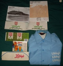 Lot of Vtg 1960s 1970s Libby's Can Label Pads Employee Jacket Scanner Ma... - $14.99