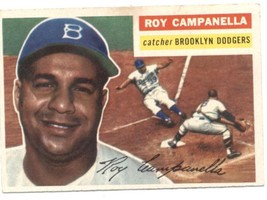 1956 Topps #101 Roy Campanella Dodgers (Gray Back) EX Excellent  - $75.00