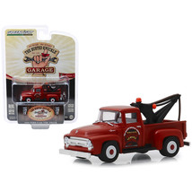 1956 Ford F-100 Tow Truck Red Wrecker Service Busted Knuckle Garage Seri... - $13.31
