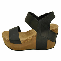 Pierre Dumas Hester-1 Black Women's Platform Wedge Sandal 22608 - $38.95