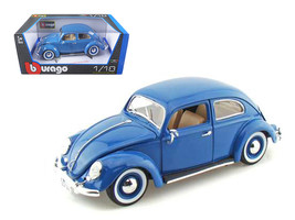 1955 Volkswagen Beetle Kafer Blue 1/18 Diecast Model Car by Bburago - $58.79