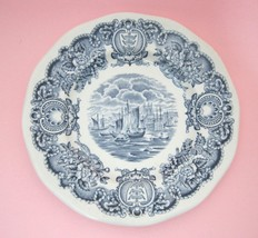 "Historical Ports of England Blue 6"" Bread Butter Side Plate Port of Hull... - $8.42"