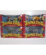 Marvel X-Men Savage Land Set of 4 Boxed Action Figures - ToyBiz 1997 FS - $62.89