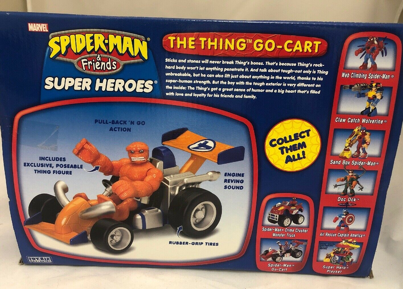 Marvel Spider-Man & Friends The Thing You Go- Cart Motorized Pull Back Go Action image 6