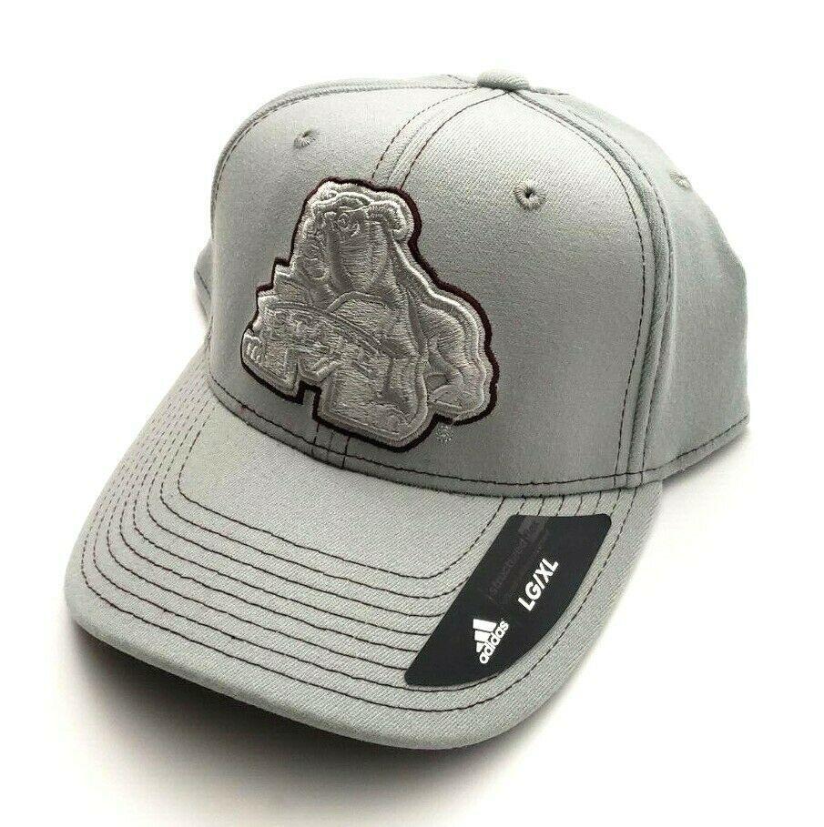 Mississippi St Bulldogs NCAA Adidas Baseball Flex Fitted Hat Gray/Maroon L/XL - $29.70