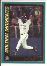 (SC-20) 2001 Topps Baseball Card #386: Joe Carter - Golden Moments - $1.25
