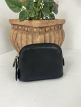 New Coach Pouch Cosmetic Bag Coin Purse 6987 Black Leather Small Zip Vtg... - $107.79