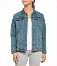 new Prana women jean Detra jacket dorable W23180506 sz M blue - $47.37