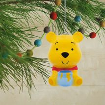 Hallmark Disney Winnie The Pooh Decoupage Infrangibile Natale Ornamento Nwt image 4