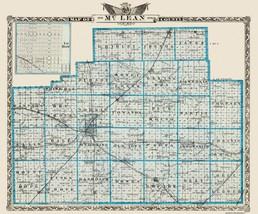 Mclean County Illinois  - Warner 1876 - 27.69 x 23 - $36.58+