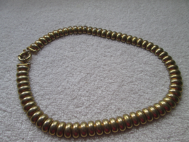 """Avon gold tone SP necklace, great look, 18"""", non-magnetic, bright links - $28.00"""