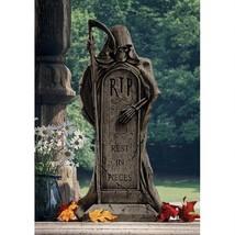 Rest in Pieces Grim Reaper Tombstone Statue Halloween Decoration Outdoor... - €77,63 EUR