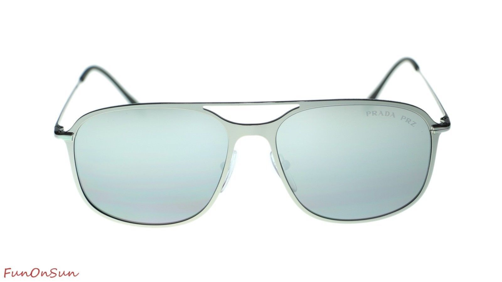 Prada Men  PS53TS 7CQ2F2 Matte Gunmetal/Polar Grey Mirror Silver Polarized Lens  image 2