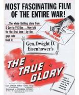 Dwight Eisenhower True Glory WWII 1945 ORIGINAL Vintage 9x12 Industry Ad  - $74.61