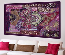 Wall Tapestry Hand Embroidered Beaded Patchwork Hanging Heavy Sequins De... - $1.039,66 MXN