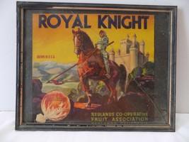 FRAMED Royal Knight Sunkist Orange Crate Label Art Print Fruit Coop Redland Ca - $9.24