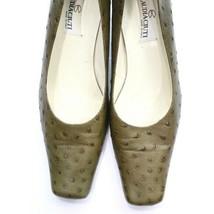Claudia Ciuti Ostrich Print Leather Heels - Size 7 1/2 - NEW - Retail $2... - £48.83 GBP