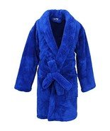 Kids Microfleece Robe for Boys, Plush Soft and Cozy Small, Royal Blue - $29.80
