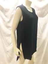Helmut Lang Top Medium M Black Tunic Tank Shirt Blouse Sleeveless - $30.59