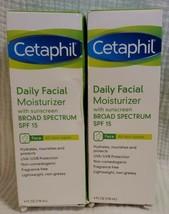 (2) Cetaphil All Skin Types SPF 15 Daily Facial Moisturizer, 4.0 FL Oz Ea - $13.85