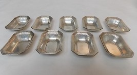 9 Gorham Caldwell Antique Sterling Silver Art Nouveau Etched Octagon Dish Bowl - $750.00