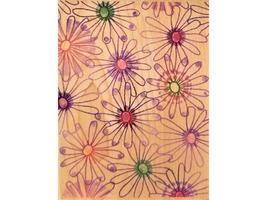 Hero Arts Petals & Pinwheels Background Rubber Stamp #S3725