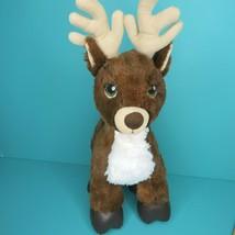 Build A Bear Team Santa Dark Brown Reindeer Plush Rudolph Stuffed Animal... - $15.95