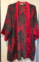 Vintage Victoria Secret Red Rose Print Robe Womens One Size Gold Label S... - ₹1,345.23 INR