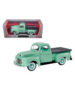 1948 Ford F1 Pickup Truck Green 1/18 Diecast Model Car by Road Signature... - $57.34