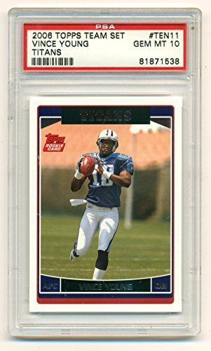 2006 Topps Team Set Vince Young Rookie RC Graded PSA GEM Mint 10 - Football Card