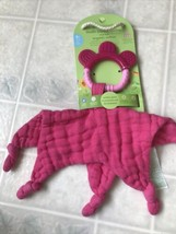 Green Sprouts Muslin Teether Blankie Lovey Comfort Chew new! Pink Color - $26.03