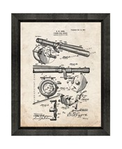 Fishing Reel Brake Patent Print Old Look with Beveled Wood Frame - $24.95+