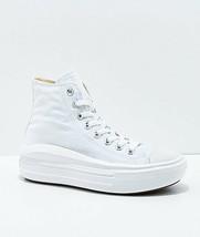 "NEW Converse CTAS Move Hi White Platform Shoes Womens Cushioned 1.5"" - $103.35"