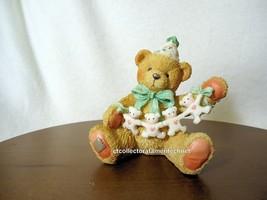 Cherished Teddies Birthday Bear Age 4  1993 NIB - $24.70