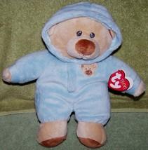 Ty Pluffies PJ BEAR Pajama Boy Bear Beanie Plush NWT - $10.88