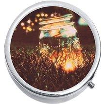 Fireflies Jar Medicine Vitamin Compact Pill Box - $9.78