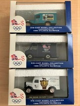 1996 COCA-COLA Olympic 1:64 DIE-CAST Delivery Trucks Set Of 3 (Lledo England) - $39.11
