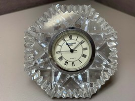 Waterford Quartz Crystal Lismore Diamond Clock Paperweight - $49.49