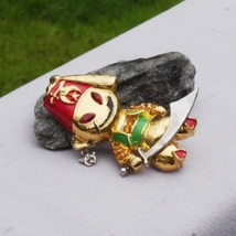 Brooch man w red fez hat scimitar moon and star pirate patrol enamel topaz rhinestones3 thumb200