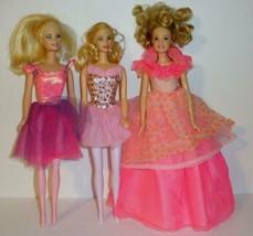 "3 Mattel Barbie Ballerina Dolls From 1998 and 2006 11 1/2"" - $18.00"