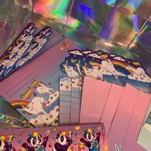 Lisa Frank Stationery Tin Markie Imagionationery Heels Roses Notecards Party  image 11