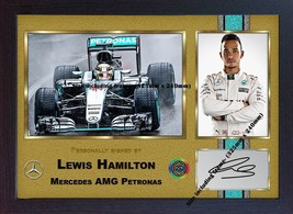 Lewis Hamilton signed autograph Memorabilia Mercedes Formula 1 print FRAMED - $19.27