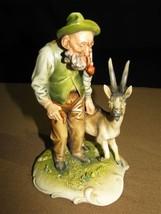 Vintage/Antique Borsato Figurine of a Man and a Goat Signed, Excellent C... - $99.00