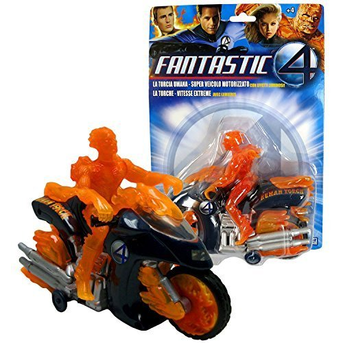 Marvel Year 2005 Fantastic Four Series 7 Inch Long Motorized Bump and Go Vehicle