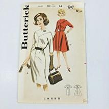 Dress Fit Flare Butterick 9895 Sewing Pattern Size 14 Bust 34 VTG Uncut ... - $14.11